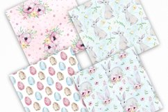 Watercolor Spring Easter Digital Paper, Seamless Pattern Product Image 2