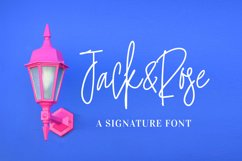 Jack and Rose - A Signature Font Product Image 1