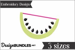 Watermelon Applique Embroidery Design Product Image 2
