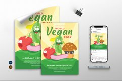 World Vegan Day vol.01 - Flyer, Poster & Instagram TY Product Image 1