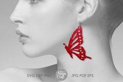 Butterfly Earrings SVG Earrings SVG, Cut file Product Image 2