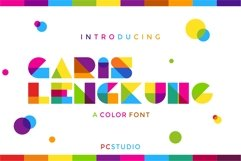 Garis Lengkung - Color Font Product Image 1