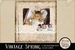 Digital Scrapbook Kit - Vintage Floral Scrapbooking Clipart Product Image 6
