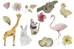 Animal watercolor digital clipart Product Image 6