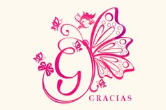Butterfly Monogram Product Image 4