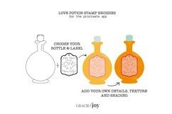 Love Potion Bottle Procreate Stamp Brush Product Image 3