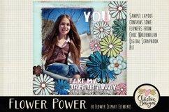 Flower Clipart Elements - Flower Digital Scrapbook Elements Product Image 3