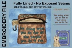 Thank You Zipper Bag / Fully Lined, 4X4 HOOP Product Image 2