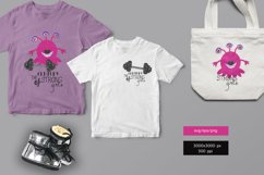 Strong girl monster with barbell with brilliants Product Image 1