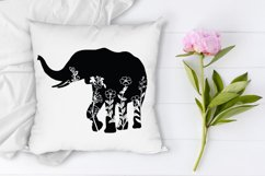 Floral Elephant SVG Cut Files. Floral Elephant Clipart. Product Image 5