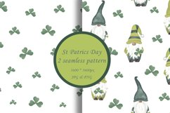 St Patrics day gnome seamless pattern Gnome digital paper Product Image 1