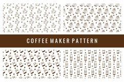 Coffee Maker Seamless Pattern Product Image 1