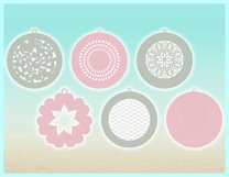 Faux Leather Earring SVG Bundle, Laser Necklace Template SVG Product Image 5