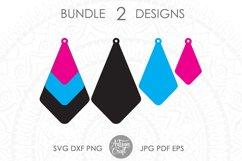 Earrings SVG, Teardrop earring, Geometrical earrings Product Image 2