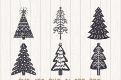 Scandinavian Style X-mas Trees SVG Bundle, Christmas Decor Product Image 6