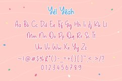 Web Font - Yel Yeah - Quirky Handwritten Font Product Image 3