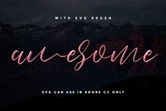 Love Brush SVG Font - Free Sans Product Image 2