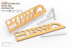 Ruler and Protractor- laser cutting file Product Image 1
