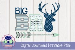 Deer Themed Big Brother Sibling Design Product Image 1