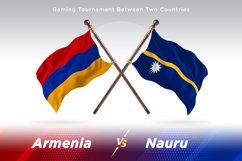 Armenia versus Nauru Two Flags Product Image 1