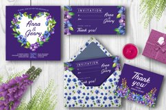 Watercolor pansy flower Product Image 5
