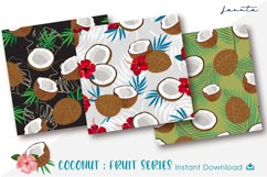 Coconut Seamless Pattern Fruits Background Product Image 3