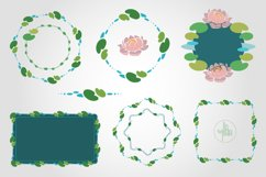 Elegant floral frames and borders, PNG & vector clipart pack Product Image 5