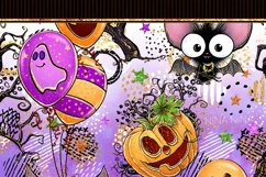 Cute Halloween Seamless Patterns, Bats Digital Papers Pack Product Image 10