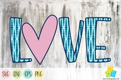 Love 1 SVG, DXF, EPS and PNG file Product Image 1