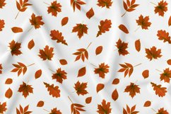 Autumn watercolor leaves pattern, seamless. Product Image 5