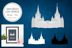 San Diego California LDS Temple Clipart Product Image 1