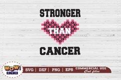 Stronger than cancer svg, Breast Cancer svg, Cancer svg Product Image 2