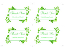 Green Thank You Card Template, instan download, DAD_08 Product Image 4