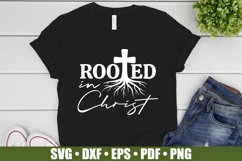 Rooted In Christ SVG files for Cricut | Bible Verse SVG Product Image 2