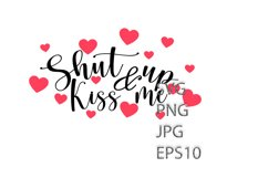 Valentines Svg, Heart SVG, Kiss Me Product Image 2