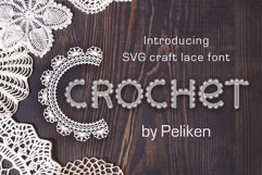Crochet - svg craft lace font Product Image 1