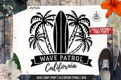 Surf Patrol Adventure Badge, Vintage Summer Logo SVG File Product Image 1