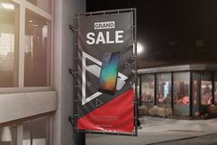 Vertical Outdoor Advertising Banner Mockup Product Image 3