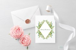 Watercolor Floral Frames Card Borders Backgrounds,Clipart Product Image 4