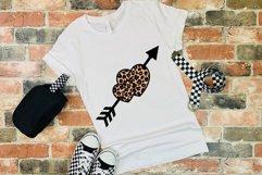 Valentines SVG   Leopard Heart SVG   Cheetah Print Design Product Image 5