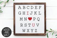 Alphabet I Love You SVG | Valentine's Cut File Product Image 1