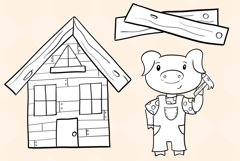 Three Little Pigs Digital Stamps Product Image 3