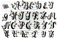 Christmas lights letters svg for Christmas Monograms Product Image 1