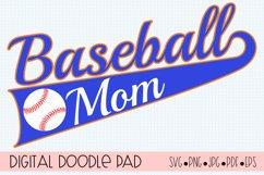 Baseball Mom SVG | Silhouette and Cricut Cut File Product Image 1