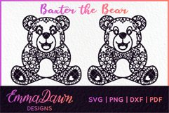 BAXTER THE BEAR SVG MANDALA / ZENTANGLE DESIGN Product Image 3