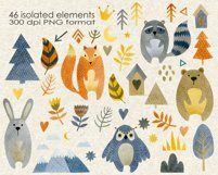 Watercolor forest friends graphic collection. Product Image 2