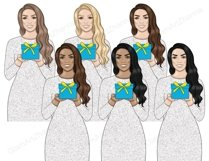 Hanukkah GIRLS Dreidel Menorah Chanukah Holiday Winter - PNG Product Image 4