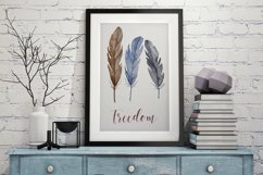 Watercolor feathers clipart Product Image 4
