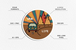 Van life Graphic. Two round logos in doodle style Product Image 4