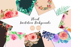 Floral Invitation Backgrounds Product Image 1